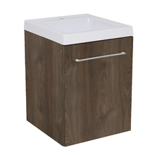 Gabinete Modulado para Banheiro com 1 Porta 1 Prateleira Amadeirado Escuro 45x46cm Amadeirado Escuro Remix