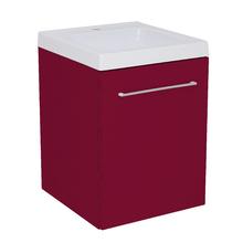 Gabinete Modulado para Banheiro com 1 Porta 1 Prateleira Bordô 45x46cm Bordô Remix