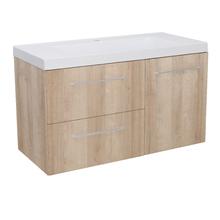 Gabinete Modulado para Banheiro com 1 Porta 2 Gavetas 105x46cm Amadeirado Claro Remix
