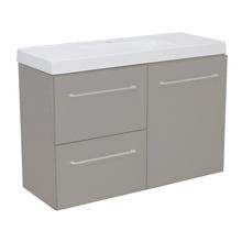 Gabinete Modulado para Banheiro com 1 Porta 2 Gavetas 90x32cm Cinza Remix