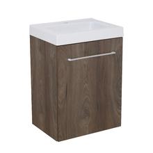Gabinete Modulado para Banheiro com 1 Porta Amadeirado Escuro 45x32cm Amadeirado Escuro Remix