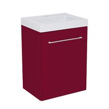 Gabinete Modulado para Banheiro com 1 Porta Bordô 45x32cm Bordô Remix