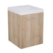 Gabinete Modulado para Banheiro com 1 Porta Amadeirado Claro 45x46cm Amadeirado Claro Remix