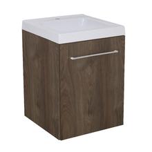 Gabinete Modulado para Banheiro com 1 Porta Amadeirado Escuro 45x46cm Amadeirado Escuro Remix