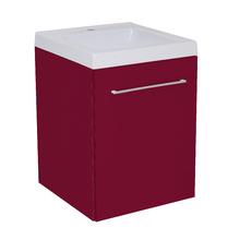 Gabinete Modulado para Banheiro com 1 Porta Cinza 45x46cm Bordô Remix