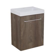 Gabinete Modulado para Banheiro com 1 Porta e Prateleira 45x32cm Amadeirado Escuro Remix