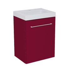 Gabinete Modulado para Banheiro com 1 Porta e Prateleira 45x32cm Bordô Remix