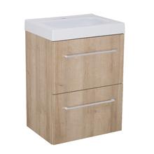Gabinete Modulado para Banheiro com 2 Gavetas 45x32cm Amadeirado Claro Remix