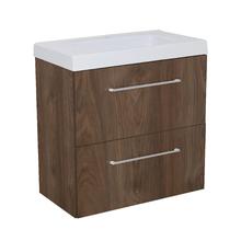 Gabinete Modulado para Banheiro com 2 Gavetas 60x32cm Amadeirado Escuro Remix