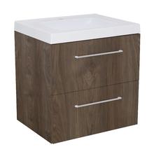 Gabinete Modulado para Banheiro com 2 Gavetas 60x46cm Amadeirado Escuro Remix
