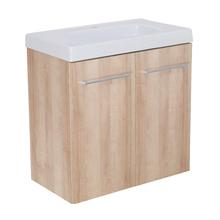 Gabinete Modulado para Banheiro com 2 Portas 1 Prateleira 60x32cm Amadeirado Claro Remix