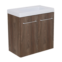 Gabinete Modulado para Banheiro com 2 Portas 1 Prateleira 60x32cm Amadeirado Escuro Remix
