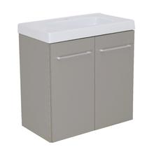 Gabinete Modulado para Banheiro com 2 Portas 1 Prateleira 60x32cm Cinza Remix