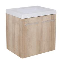Gabinete Modulado para Banheiro com 2 Portas 1 Prateleira 60x46cm Amadeirado Claro Remix