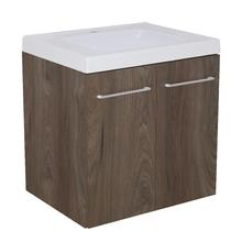Gabinete Modulado para Banheiro com 2 Portas 1 Prateleira 60x46cm Amadeirado Escuro Remix