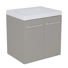 Gabinete Modulado para Banheiro com 2 Portas 1 Prateleira 60x46cm Cinza Remix