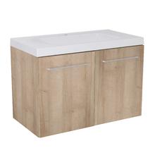 Gabinete Modulado para Banheiro com 2 Portas 2 Prateleiras 90x46cm Amadeirado Claro Remix
