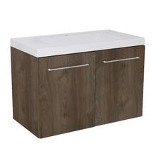 Gabinete Modulado para Banheiro com 2 Portas 2 Prateleiras 90x46cm Amadeirado Escuro Remix