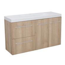 Gabinete Modulado para Banheiro com 2 Portas 2 Gavetas 105x32cm Amadeirado Claro Remix