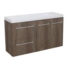 Gabinete Modulado para Banheiro com 2 Portas 2 Gavetas 105x32cm Amadeirado Escuro Remix