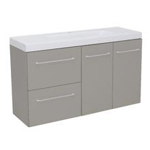 Gabinete Modulado para Banheiro com 2 Portas 2 Gavetas 105x32cm Cinza Remix