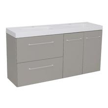 Gabinete Modulado para Banheiro com 2 Portas 2 Gavetas 120x32cm Cinza Remix