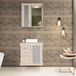 Gabinete para Banheiro Atacama 61x60x40cm Mezzo Blanco Darabas Agardi