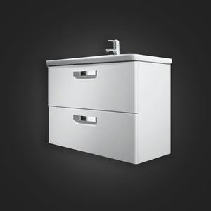Gabinete para Banheiro Madeira Branco 44x60x41cm Gap Roca