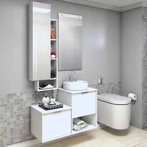 Gabinete para Banheiro Capri 59x90x42Cm Branco  Darabas Agardi