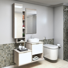 Gabinete para Banheiro Capri 59x90x42Cm Mezzo blanco Darabas Agardi