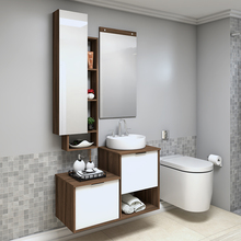 Gabinete para Banheiro Capri 59x90x42Cm Terracota Darabas Agardi