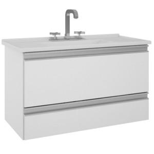 Gabinete Para Banheiro Com 1 Porta E 1 Gaveta Treviso Mgm Branco