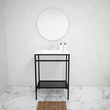 Gabinete para Banheiro com Cuba Iron Black 88x60x45 Preto Venturi