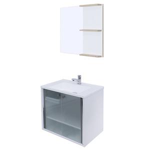 Gabinete para Banheiro com Espelho Cris-Slim 9,5x6x6cm Branco Cris Metal