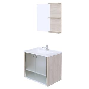 Gabinete para Banheiro com Espelho Cris-Slim 9,5x6x6cm Amadeirado Cris Metal