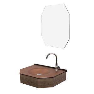 Gabinete para Banheiro com Espelho Cris-Decor 9,5x6x6cm Bronze Cris Metal