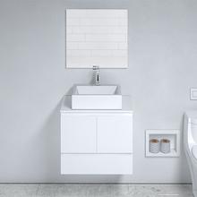 Gabinete para Banheiro com Espelho Arica 52X60X40cm Branco Venturi