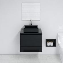 Gabinete para Banheiro com Espelho Arica 52X60X40cm Preto Venturi