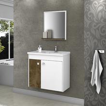 Gabinete para Banheiro com Espelho Eldorado 100x56x29,6cm Branco|Madeira Móveis Bechara