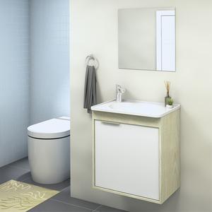 Gabinete para Banheiro com Espelho Isis 47x44x30Cm Artico  Darabas Agardi