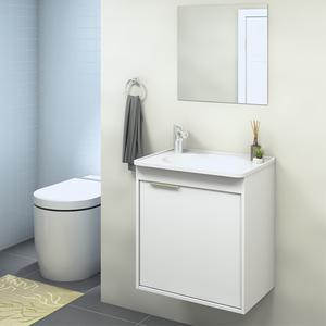 Gabinete para Banheiro com Espelho Isis 47x44x30Cm Branco Darabas Agardi