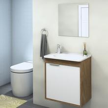 Gabinete para Banheiro com Espelho Isis 47x44x30Cm Ebano Darabas Agardi