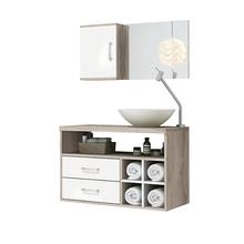 Gabinete para Banheiro com Espelho Perfil 80  55x80x40cm Brunelo AstralDesign