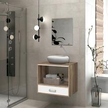 Gabinete para Banheiro com Espelho Rio 47x60x40 Bali e Branco Astral Design