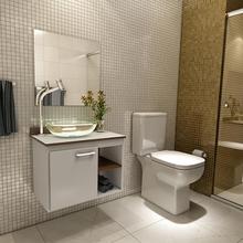 Gabinete para Banheiro com Espelho Sigma 42x55x35cm Branco Venturi