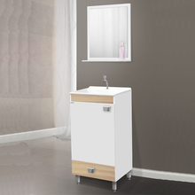 Gabinete para Banheiro com Espelho Uno com Pés 58x42x34 Branco|Carvalo Fabribam