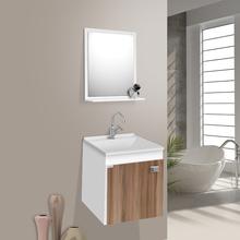 Gabinete para Banheiro com Espelho Uno Suspenso 45x42x34 Branco|Nogal Fabribam