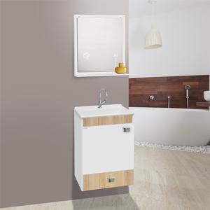 Gabinete para Banheiro com Espelho Uno Suspenso 58x42x34 Branco Carvalo Fabribam
