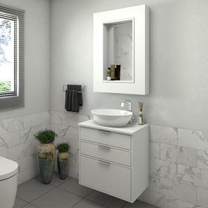 Gabinete para Banheiro Da Vinci 62x60x42Cm Branco  Darabas Agardi
