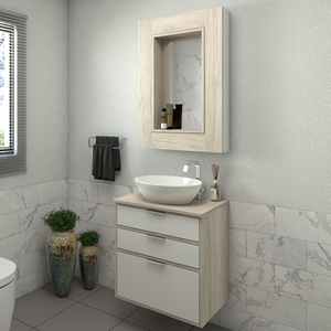 Gabinete para Banheiro Da Vinci 62x60x42Cm Mezzo blanco Darabas Agardi